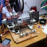 One of a number of RepRap 3D printers in attendance