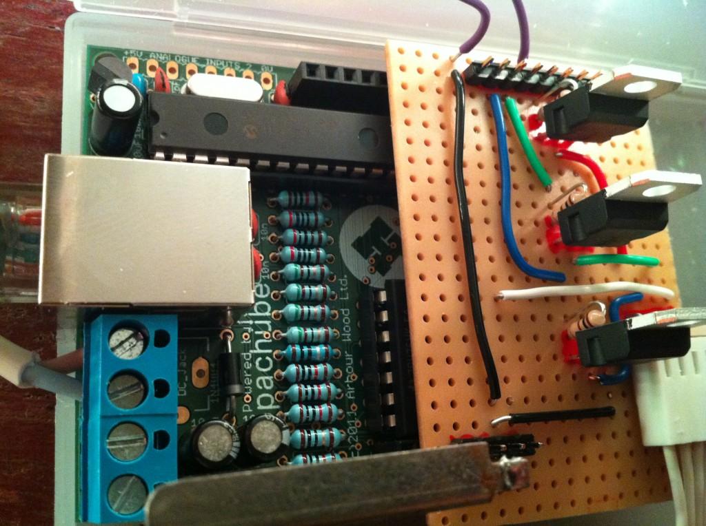 closeup of the controller board